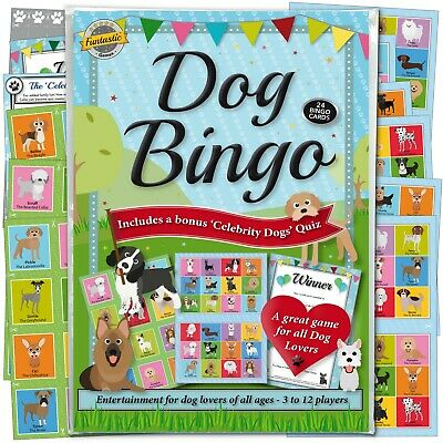 Dog Bingo Game: Fun For Dog Lovers Of All Ages - Includes A Bonus Dog Quiz. • 5.45£