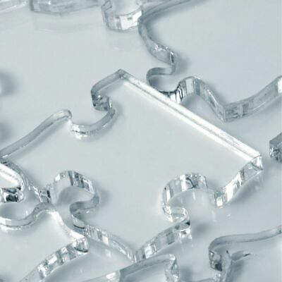 Impossible Difficult Clear Jigsaw Puzzle - Transparent Acrylic - UK Seller • 18.90£