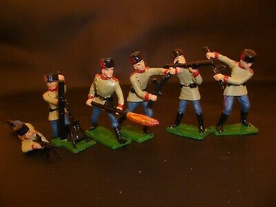 Set Of 6 Cherilea 60mm Russian Toy Soldiers • 15£
