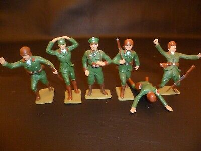 Set Of 6  Cherilea 60mm German Toy Soldiers • 15£