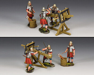 KING AND COUNTRY Romans - The Ballista & Crew Set ROM033 • 207.95£