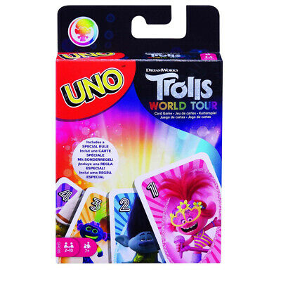 Uno By Mattel - Trolls World Tour Edition - Family Card Game For 2 - 10 Players • 8.99£