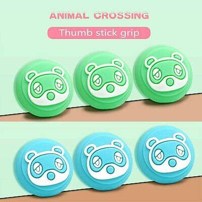 4PCS Thumb Grips Cap Cover For Animal Crossing Switch Joycon Joystick Console • 2.81£