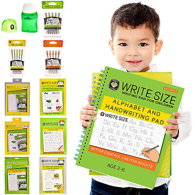 Home Learning Books - Practice Writing & Alphabet With Early Learning Write Size • 3.99£
