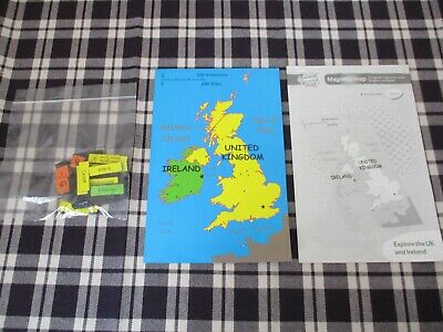 Magnetic Weather Map ~ United Kingdom And Ireland ~ Vintage • 7.99£