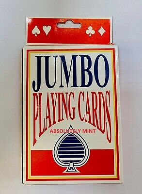 Jumbo Playing Cards Deck Extra Large Cards Playing Cards Pack Of 52 New • 2.49£