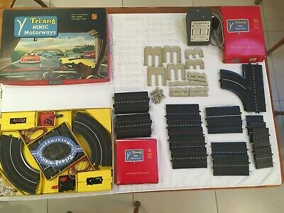 TRIANG - Minic Motorways Set - M1504 With Rolls Royce + Flyover+straight Track • 170£