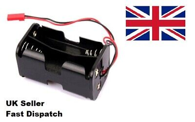 RC Receiver Battery Pack Case Box Holder RC Cars Trucks Planes Boats 4x AA 2 Pin • 4.59£