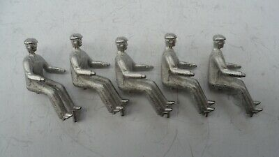 Repro Dinky Tractor Drivers, Early Type X 5. Unpainted Whitemetal. • 5£