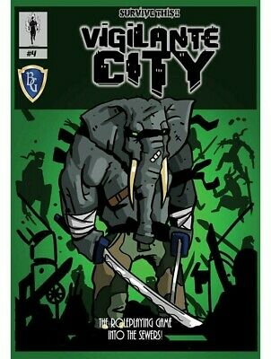Survive This!! Vigilante City The Roleplaying Game Into The Sewers RPG • 19.99£