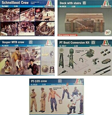 Italeri 1/35 Boat Crew Figures New Plastic Model Kit 1 35 • 13.95£