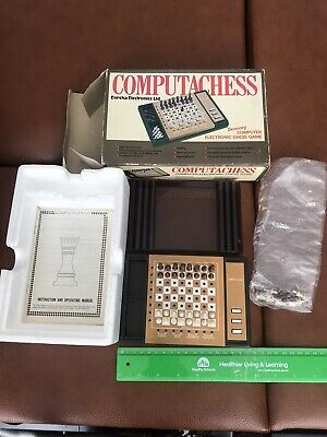 Vintage Chess Game Set Computachess Battery Operated Also Can Be Manually Played • 20£