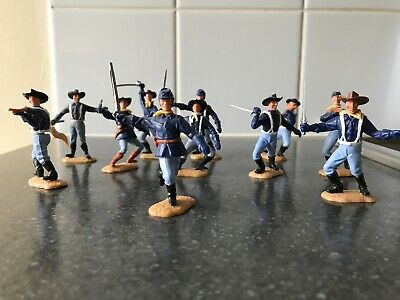 Vintage Timpo 7th Calvary American Civil War Yankees X 11 • 90£
