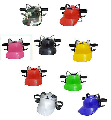 Novelty Beer Drinking Helmet Hat Game Drink Can Holder Soda Hen Party Stag Do  • 8.99£