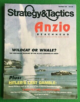 Strategy & Tactics Magazine And Game #134: Anzio Beachhead. Punched. • 12.95£