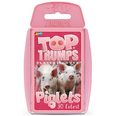 Top Trumps Card Game Piglets - Absolutely Adorable - 'Oink, Oink • 5.99£