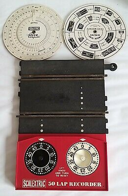 Scalextric Vintage Lapcounter C272 With 2 Speed Dial Cards • 5.99£