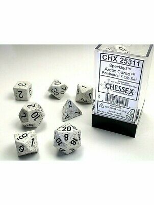 Poly 7 Set Of Dice Speckled Arctic Camo Chessex Polyhedral • 5.49£