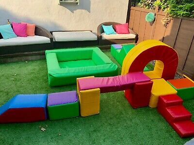 Commercial Soft Play Agility Set Equipment With Ball Pool Unique • 500£
