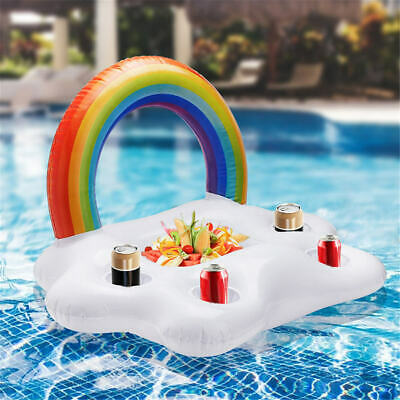 Inflatable Floating Drink Can Cup Holder Tub Swimming Pool Beach Party • 8.80£