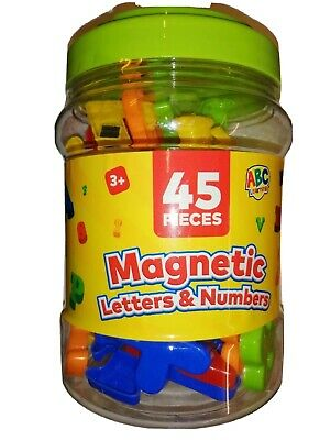 Magnetic Letters And Numbers / 45 Pieces / Educational Toy / Fridge Magnets • 5.99£