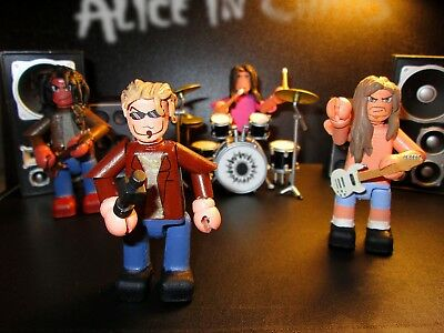 Alice In Chains 3 Inch Minifigure Set 4 X Handmade OOAK Jointed Figures • 40£