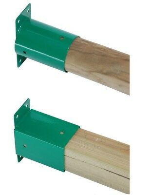 Swing Wall End Flat Bracket For Climbing Frame Wooden Beam Playhouse Selection • 17.99£