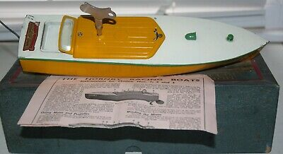 Hornby 'swift' Clockwork Pond Boat In Excellent Working Condition Boxed • 239.95£