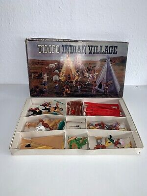 Vintage Timpo Toys Wild West Indian Village With Original Box Incomplete • 250£