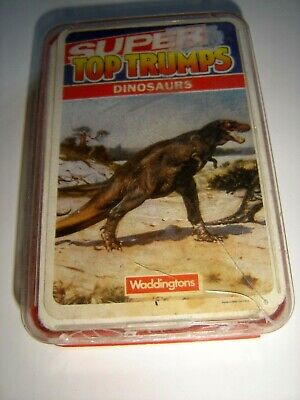 SUPER TOP TRUMPS - DINOSAURS - VINTAGE CARDS FROM THE 1980s • 9.99£