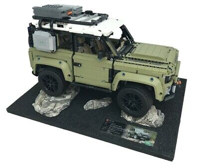 Lego Technic Land Rover Defender 42110 - Display Case / Stand - Rock Diorama • 29.99£