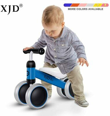 Kids Infant Baby Balance Bike Tricycle 4 Wheel No Pedal Walker Toys Rides Blue • 33.89£