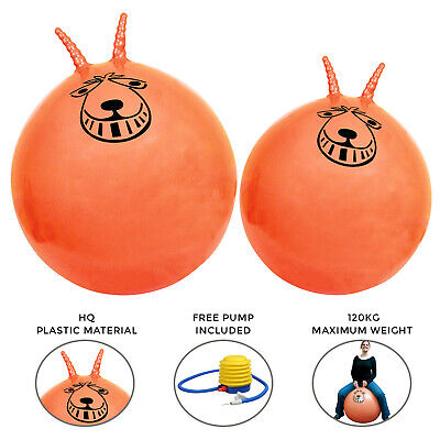 Retro Large Ball Space Hopper Toy Adult Kids Bounce 60cm / 80cm • 8.59£
