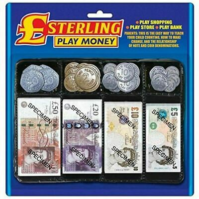 Pretend Toy Play Money - Childrens Realistic Fake Plastic Coins And Paper Notes • 4.90£