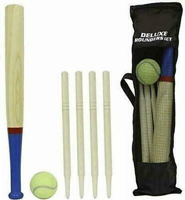 M.Y Deluxe 6 Piece Wooden Rounders Set & Carry Bag • 7.99£