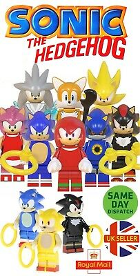 Sonic The Hedgehog Mini Figures Shadow Super Sonic Amy Tails Knuckles UK Seller • 3.49£