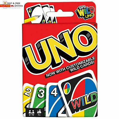 UNO CARD GAME With WILD CARDS Mattel Latest Version Family Fun UK SELLER • 2.95£