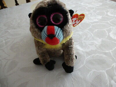 Ty Beanie Boos Wasabi The Baboon Soft Toy Used  • 1.50£