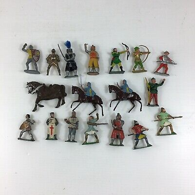Job Lot Vintage Cherilea & Others Lead Metal Medieval Figures Robin Hood Type • 79£