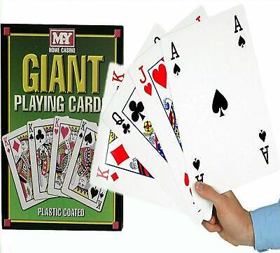 A4 Size Deck Of Giant Jumbo Cards Ideal For Parties, Garden Games & Outdoor • 8.49£