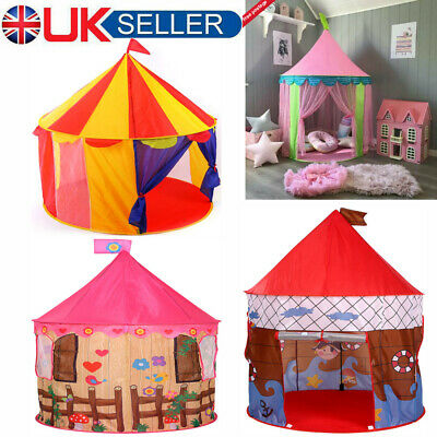 Kids Pop Up Wizard Princess Castle Tent Indoor Outdoor Fun Playhouse Play Toy Uk • 16.99£