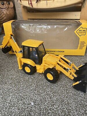 JCB Battery Operated Backhoe Excavator Model 1/16 • 100£