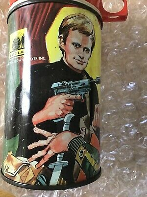 ORIGINAL 1960s MAN FROM UNCLE TIN THERMOS FLASK. • 30£