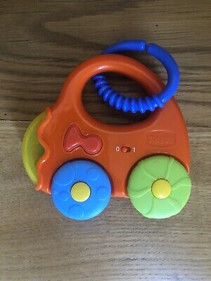 Vintage*Chicco Toy Car*Sounds*Rattle With Blue Attacher Hook • 6.94£