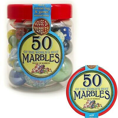 Tub Of 50 Marbles House Of Marbles Brand New Sealed 205000 • 0.99£