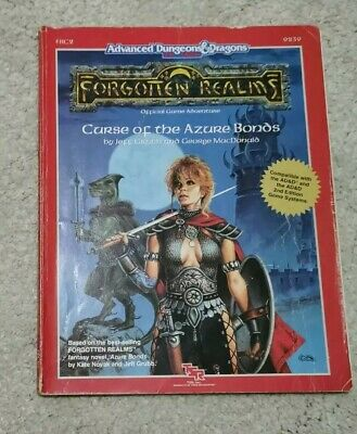 Curse Of The Azure Bonds - Forgotten Realms - AD&D 2nd Edition FRC2 9239 TSR • 15£
