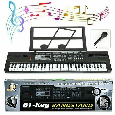 61 Keys Digital Music Electronic Keyboard Electric Kids Piano Organ & Microphone • 19.99£
