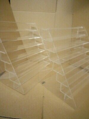 2 X Perspex Display Shelf,ideal For Matchbox Cars,shop Display,2xperspex Shelves • 25£