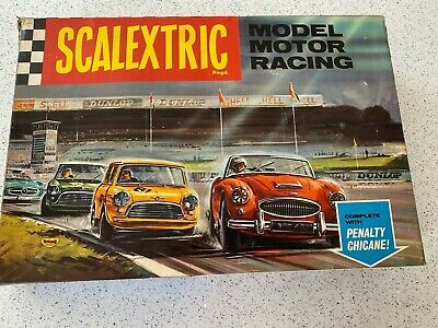 VINTAGE 1966 BOXED SCALEXTRIC Set 65 With Penalty Chicane Siren And Instructions • 40£