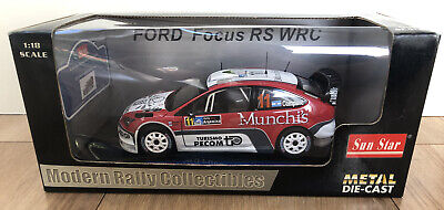 Sun Star 1/18 Diecast Ford Focus RS WRC Munchi Ford WRT Rally Argentina 2007 NEW • 19£